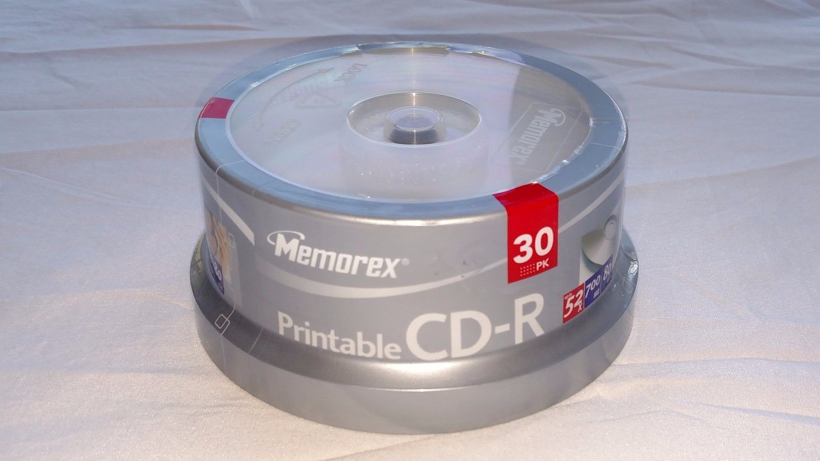image about Printable Cds titled Refreshing Memorex 52X Printable 700MB CD-R and 29 equivalent merchandise
