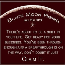 JULY 31ST BLACK NEW SUPER MOON BIG SHIFT IN BLESSINGS MAGICK Witch Cassia4  - $77.77