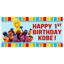 Personalized Sesame Street Birthday Banner Red ... - $22.50 - $37.00