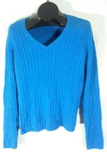 St. Johns Bay Classic Cable Sweater Womens XL Blue - $13.95