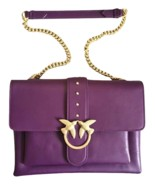 Pinko Big Love Bag Soft Simply In Pelle Purple Auth - $319.00