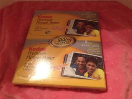 New Sealed 100 Sheet Pack Kodak Premium High Gloss Picture Photo Paper 4 x 6 in - $22.23