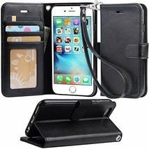 Iphone 6s/6 case Wrist Strap Flip leather wallet with ID&Credit Card Poc... - $13.85+