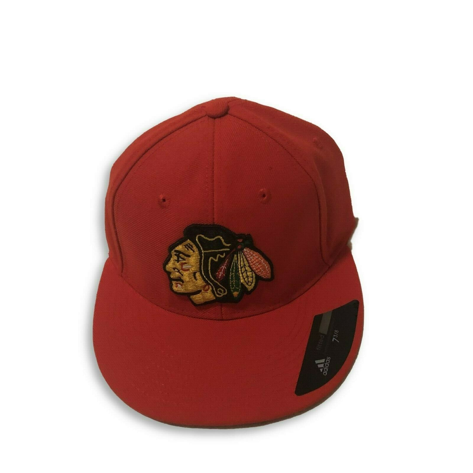 NWT New Chicago Blackhawks adidas Logo Size 7 3/8 Fitted Hat