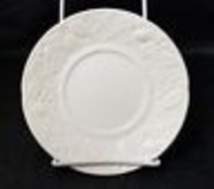 Mikasa English Countryside Bread and Butter Plates Set of 4 White Emboss... - $19.34
