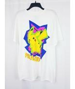 Men Pokemon Classic Short Sleeves White Shirt Sz Large Pikachu - $18.91
