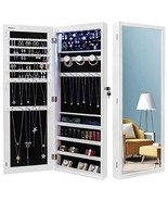 Nicetree 6 LEDs Jewelry Armoire Organizer, Wall/Door Mounted Jewelry Cab... - $110.77