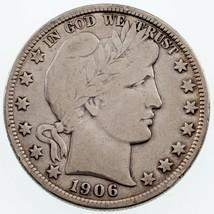 1906-D 50C Barber Demi Dollar En Fin État , Léger Gris Couleur - $57.43