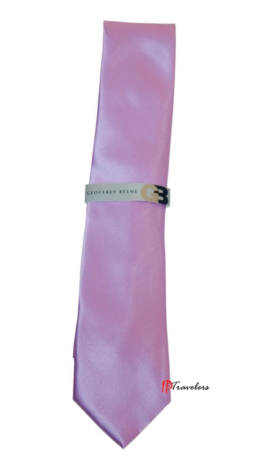 Geoffrey Beene Men's Neck Tie Solid Purple 100% Polyester Classic Size $55 image 1