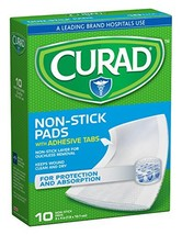 Curad Non-Stick Pads 3 Inches X 4 Inches 10 Each Pack of 3