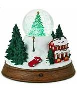 Hallmark Christmas in Evergreen Deck The Halls Music & Lights Snow Globe... - $59.39