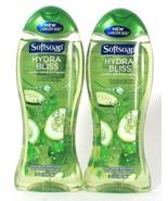 2 Bottles Softsoap 20 Oz Hydra Bliss Cucumber Water & Mint Moisture Body... - $20.99