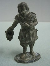 Antique Metal Statue Figurine a man M HSP made in France nº 106 - $18.50