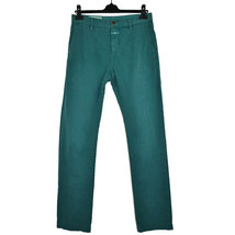 Washed mens pants closed clifton chino green 29 vintage look men's dyed ... - $35.36