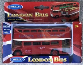 Welly London Opened Double Decker Red Bus Pull Back & Go Action Diecast - $19.95