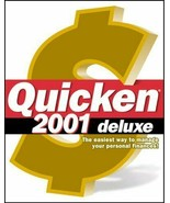 New Quicken 2001 Deluxe PC Computer Software financial accounting tax bu... - $15.83