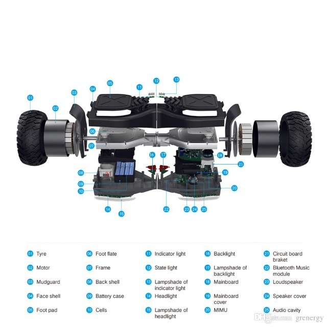 """2017 All-Terrain 8.5"""" Bluetooth Speaker Off Road Balance Scooter HoverBoard"""