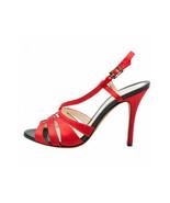 FENDI Red Satin Multi Strap High Heel Sandals (Size 38) - $299.95
