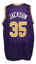 Chris Jackson #35 College Basketball Jersey New Sewn Purple Any Size image 4