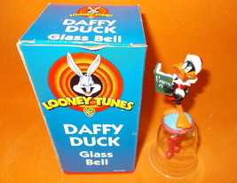 WB Looney Tunes Daffy Duck Glass Bell #05244  UPC:047256052445 - $7.72
