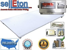 """NEW 5' x 8' / (60"""" x 96"""") Industrial Floor Scale & LED indicator 10k x 1 lb - $1,899.00"""
