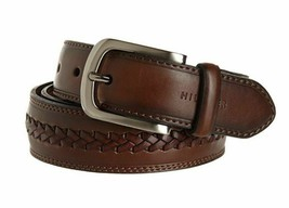 Tommy Hilfiger Men's Braided Leather Belt Brown 11TL02X047 New w/o Tags Size 36