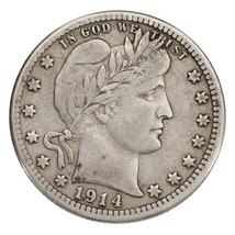 1914-S 25C Barber Quarter Fine+ Condition, All Natural Color, Full Bold ... - $435.59
