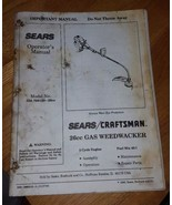 Owners Manual Sears/Craftsman  Weedwacker #358.799120  26cc 2-cycle Gas - $5.00