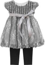 Isobella & Chloe Toddler Girls Black Ivory Size 3T Lace Top+Legging Pant... - $26.18