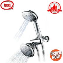 "Handheld Showerhead & Rain Shower Combo. High Pressure 24 Function 4"" Face Dual - $35.52"