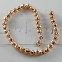 THREE 18K WHITE ROSE AND YELLOW GOLD BRACELET BRACELETS WITH BALLS MADE IN ITALY image 6