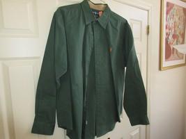Ralph Lauren ,Classic Fit ,Long Sleeve ,Men's XL ,100 % Cotton , Green , Patches - $40.00