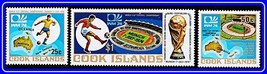 COOK IS. 1974 FOOTBALL CUP  MNH SOCCER, SPORTS, MAPS - $1.23