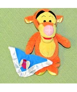 Disney BABY TIGGER RATTLE + SECURITY BLANKET Plush Stuffed Animal Doll 1... - $18.70