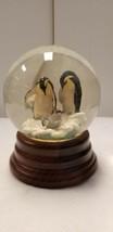 Penguin Globe San Francisco music box company used - $38.48