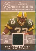 2007 Bowman Fabric Of The Future Brandon Jackson - $2.50