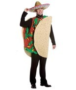 Taco Costume Adult Food Mexican Fiesta Halloween Party Unique Cheap GC7079 - $1.030,70 MXN