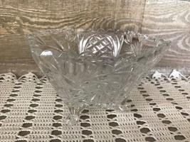 Pinwheel Crystal Hexagon Three Legged Bowl Vintage - $46.06