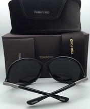 Polarized TOM FORD Sunglasses WHITNEY TF 9 01D 64-14 110 Black Frame w/Grey Fade