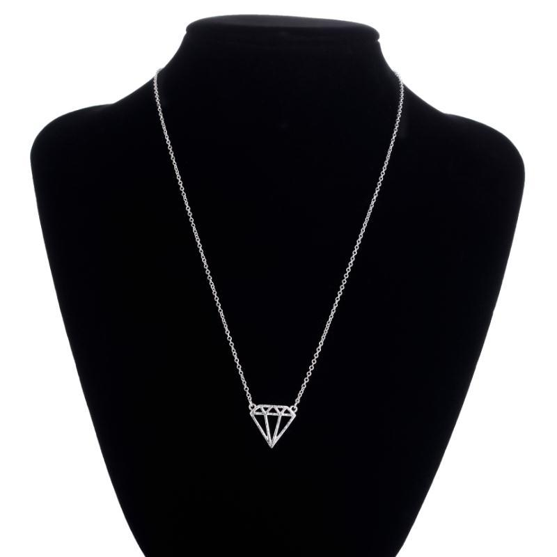 Metal Unique Charm Jewelry Flat Triangle Choker Necklace
