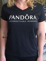 Pandora Jewelry Charm Store T-SHIRT Black White Limited Edition Medium - $17.82