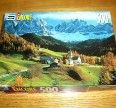 Vintage Jigsaw Puzzle 500 Pcs Dolomites Italy Church Mountains Photo 1 Missing - $14.84