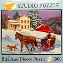 Studio Puzzle Bits and Pieces Snow Day Puzzle 1000 - $29.99