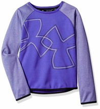 Under Armour Girls Armour Purple Fleece Crew Long Sleeve Shirt 1317835 M... - $24.74