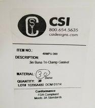 """LOT OF 48 NEW CSI DESIGNS 40MPU-300 3"""" BUNA TRI-CLAMP GASKETS 40MPU300 image 3"""