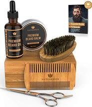 Naturenics Premium Beard Grooming Kit for Mens Care - 100% Organic Unscented Bea image 11