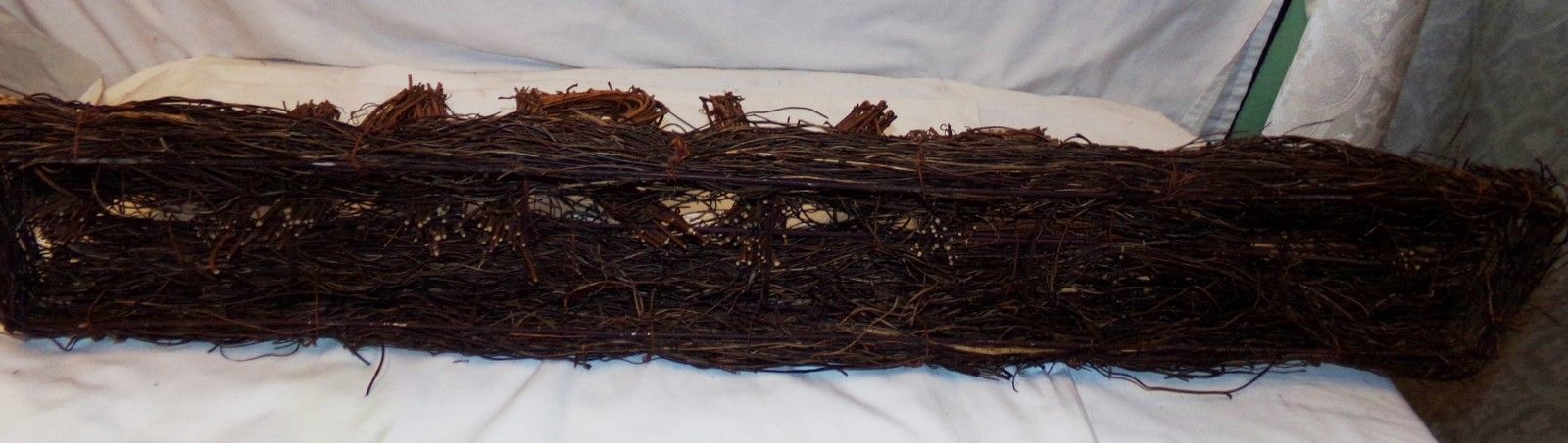 """Harvest Grape Vine Mantle Decoration Fall Grapevide 32 1/2"""" x 8"""" Autumn Natural"""