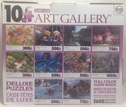 Sure-Lox Collection of 10 Deluxe Jigsaw Puzzle Photo Art Gallery 5600, 1... - $28.99