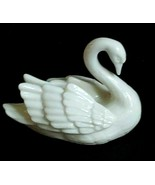 1 (One) LENOX SWAN Porcelain Small Placard/Place Card Holder Made in USA... - $15.83