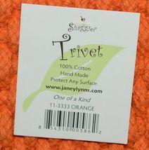 Shaggies Trivet 113333 Color Orange Handmade 100 Percent Cotton image 3